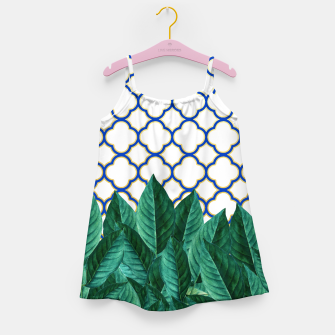 Thumbnail image of Leaves and Tiles Girl's Dress, Live Heroes