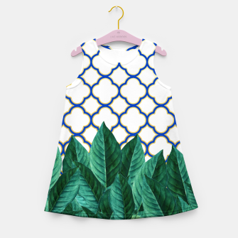 Thumbnail image of Leaves and Tiles Girl's Summer Dress, Live Heroes