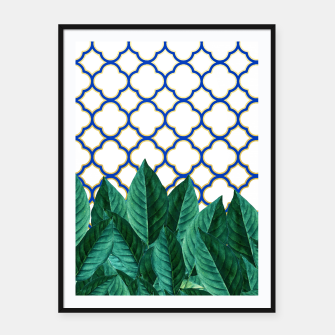 Thumbnail image of Leaves and Tiles Framed poster, Live Heroes
