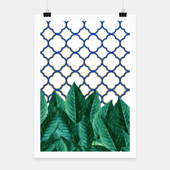 Thumbnail image of Leaves and Tiles Poster, Live Heroes