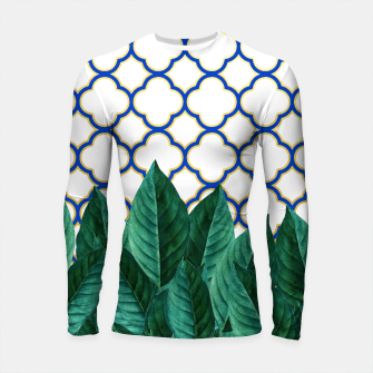 Thumbnail image of Leaves and Tiles Longsleeve Rashguard , Live Heroes