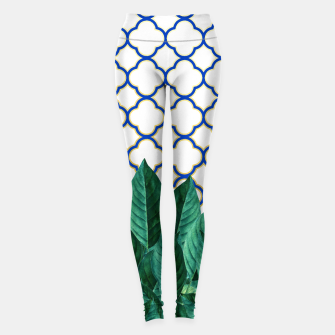Thumbnail image of Leaves and Tiles Leggings, Live Heroes