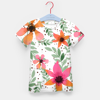 Thumbnail image of Autumn Flora Kid's T-shirt, Live Heroes