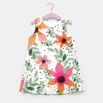 Thumbnail image of Autumn Flora Girl's Summer Dress, Live Heroes