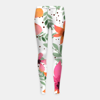 Thumbnail image of Autumn Flora Girl's Leggings, Live Heroes
