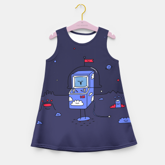 Thumbnail image of Dusky Arcade Girl's Summer Dress, Live Heroes