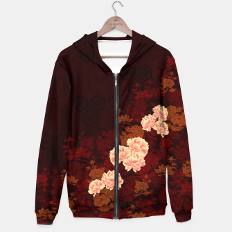 Thumbnail image of Japanese traditional emblem Kamon decoration Peony. Hoodie, Live Heroes