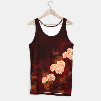 Thumbnail image of Japanese traditional emblem Kamon decoration Peony. Tank Top, Live Heroes