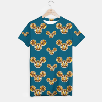 Thumbnail image of This is a wood cartoon circle mouse T-shirt, Live Heroes