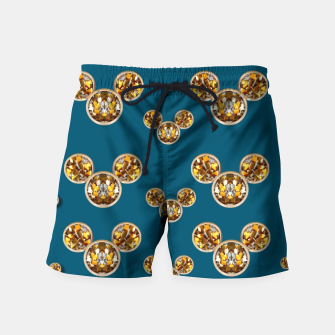 Thumbnail image of This is a wood cartoon circle mouse Swim Shorts, Live Heroes
