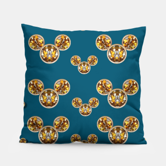 Thumbnail image of This is a wood cartoon circle mouse Pillow, Live Heroes
