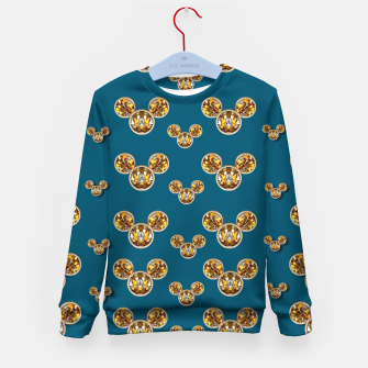 Thumbnail image of This is a wood cartoon circle mouse Kid's Sweater, Live Heroes