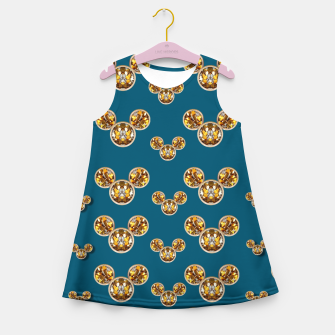 Thumbnail image of This is a wood cartoon circle mouse Girl's Summer Dress, Live Heroes