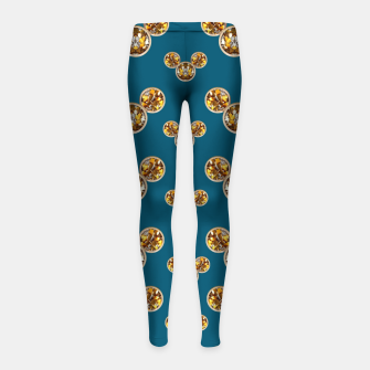 Thumbnail image of This is a wood cartoon circle mouse Girl's Leggings, Live Heroes