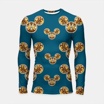 Thumbnail image of This is a wood cartoon circle mouse Longsleeve Rashguard , Live Heroes