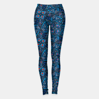 Thumbnail image of Blue Doodles - Hearts And Smiles   Leggings, Live Heroes
