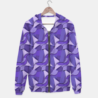 Thumbnail image of Ultra Violet Abstract Waves Hoodie, Live Heroes