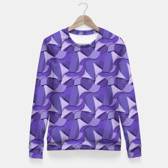 Thumbnail image of Ultra Violet Abstract Waves Fitted Waist Sweater, Live Heroes