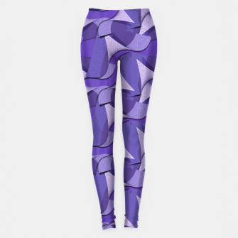 Thumbnail image of Ultra Violet Abstract Waves Leggings, Live Heroes