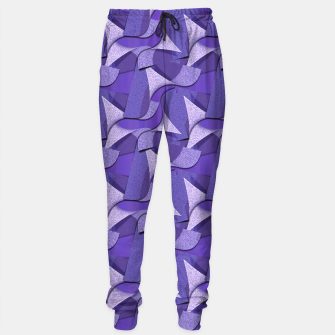 Thumbnail image of Ultra Violet Abstract Waves Sweatpants, Live Heroes