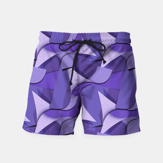 Thumbnail image of Ultra Violet Abstract Waves Swim Shorts, Live Heroes
