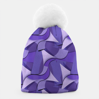 Thumbnail image of Ultra Violet Abstract Waves Beanie, Live Heroes