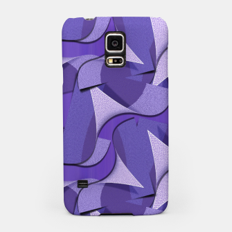 Thumbnail image of Ultra Violet Abstract Waves Samsung Case, Live Heroes