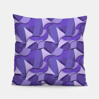 Thumbnail image of Ultra Violet Abstract Waves Pillow, Live Heroes