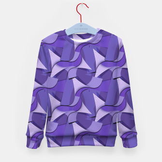 Thumbnail image of Ultra Violet Abstract Waves Kid's Sweater, Live Heroes