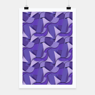 Thumbnail image of Ultra Violet Abstract Waves Poster, Live Heroes