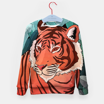 Miniatur Tiger in the jungle Kid's Sweater, Live Heroes