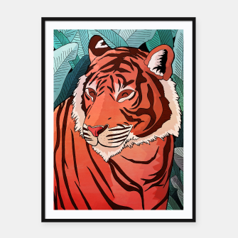 Miniatur Tiger in the jungle Framed poster, Live Heroes