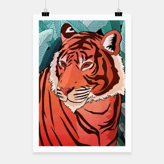 Miniatur Tiger in the jungle Poster, Live Heroes