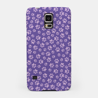 Thumbnail image of Purple Cat Paw Pattern Handyhülle für Samsung, Live Heroes