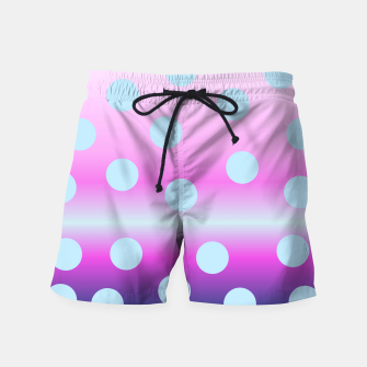 Thumbnail image of dots on top Swim Shorts, Live Heroes