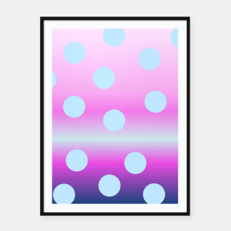 Thumbnail image of dots on top Framed poster, Live Heroes