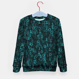 Thumbnail image of Binary Data Cloud Kid's Sweater, Live Heroes