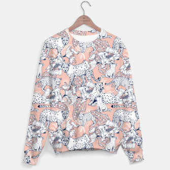 Thumbnail image of Leopards in the pink jungle Sudadera, Live Heroes
