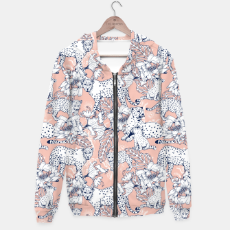 Thumbnail image of Leopards in the pink jungle Sudadera con capucha, Live Heroes