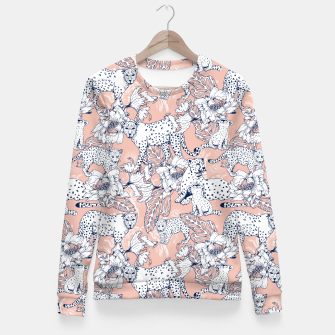 Thumbnail image of Leopards in the pink jungle Sudadera entallada, Live Heroes