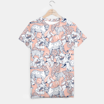 Thumbnail image of Leopards in the pink jungle Camiseta, Live Heroes