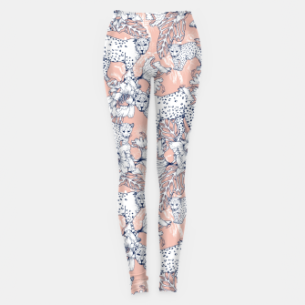 Thumbnail image of Leopards in the pink jungle Leggings, Live Heroes