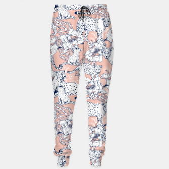 Thumbnail image of Leopards in the pink jungle Pantalones de chándal, Live Heroes