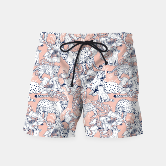 Thumbnail image of Leopards in the pink jungle Pantalones de baño, Live Heroes