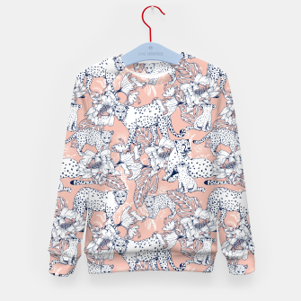 Thumbnail image of Leopards in the pink jungle Sudadera para niños, Live Heroes