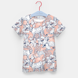 Thumbnail image of Leopards in the pink jungle Camiseta para niños, Live Heroes