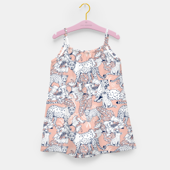 Thumbnail image of Leopards in the pink jungle Vestido para niñas, Live Heroes