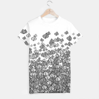 Thumbnail image of Leaf Blower B&W T-shirt, Live Heroes