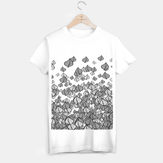 Leaf Blower B&W T-shirt regular thumbnail image