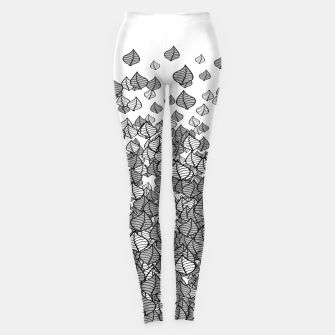 Leaf Blower B&W Leggings thumbnail image